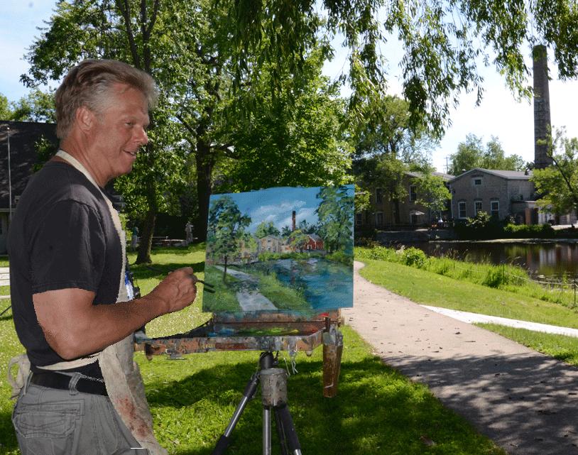 Gary Millard Cedarburg 2015 Plein Air Painting