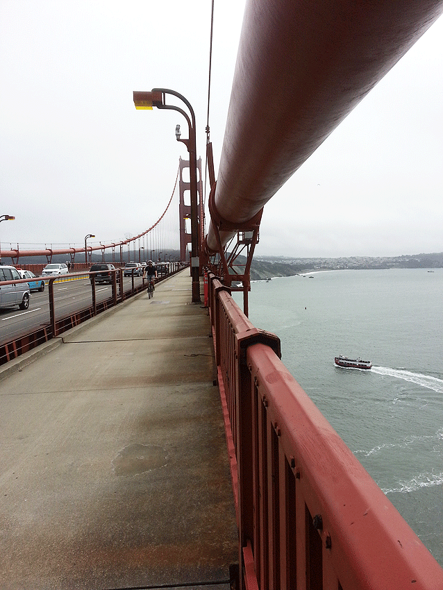 View from Golden Gate Walkway west side of Bridge