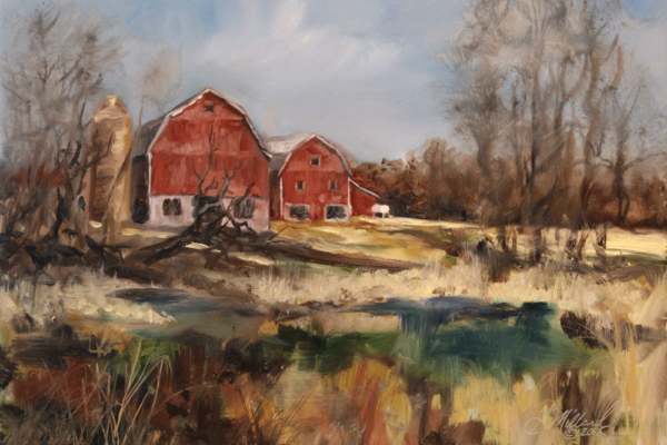 Monroe Road, Oconomowoc, Wisconsin - Plein Air - Gary Millard