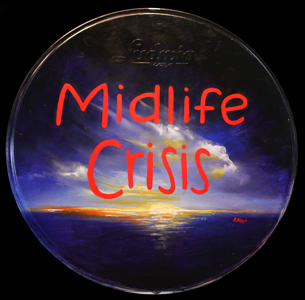 Mid Life Crisis Bass Drum Head