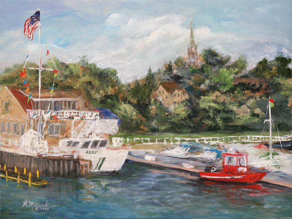 Port Washington Harbor from the break wall